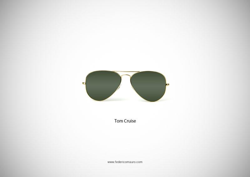 tom cruise glsases 15 Famous Eyeglasses