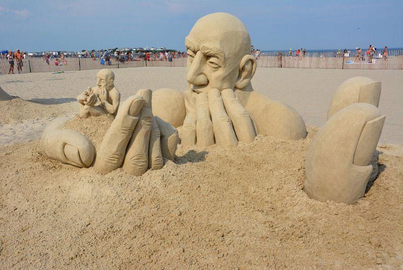 car jara hampton beach master sand sculpting competition first place photo martha lardent 2 The Infinity Sand Sculpture by Carl Jara