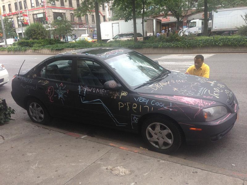 chalkboard art car philip romano new york (1)
