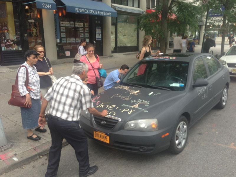 chalkboard art car philip romano new york (8)