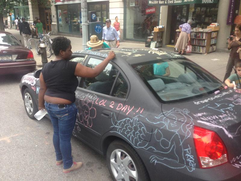chalkboard art car philip romano new york (9)