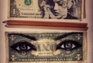 Amazing Pencil Portraits Drawn Onto Dollar Bills