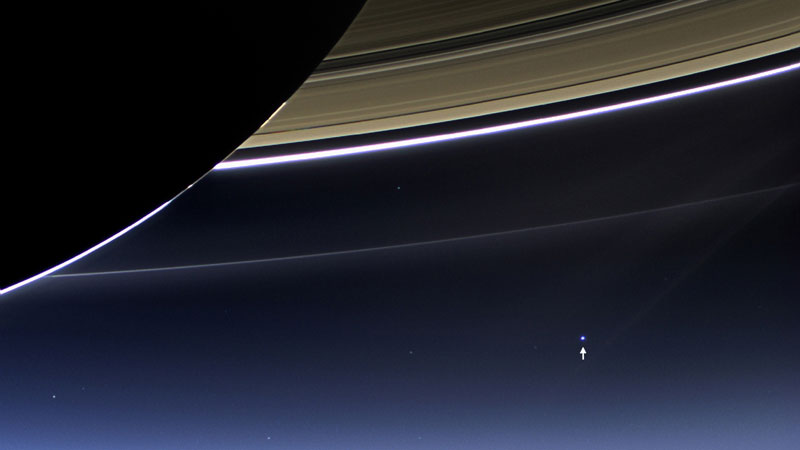earth from dark side of saturn nasa you are here The Top 75 Pictures of the Day for 2013