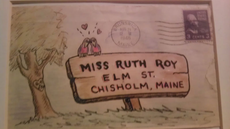 Family Finds Grandfather's Adorable Love Letter Envelopes to Wife