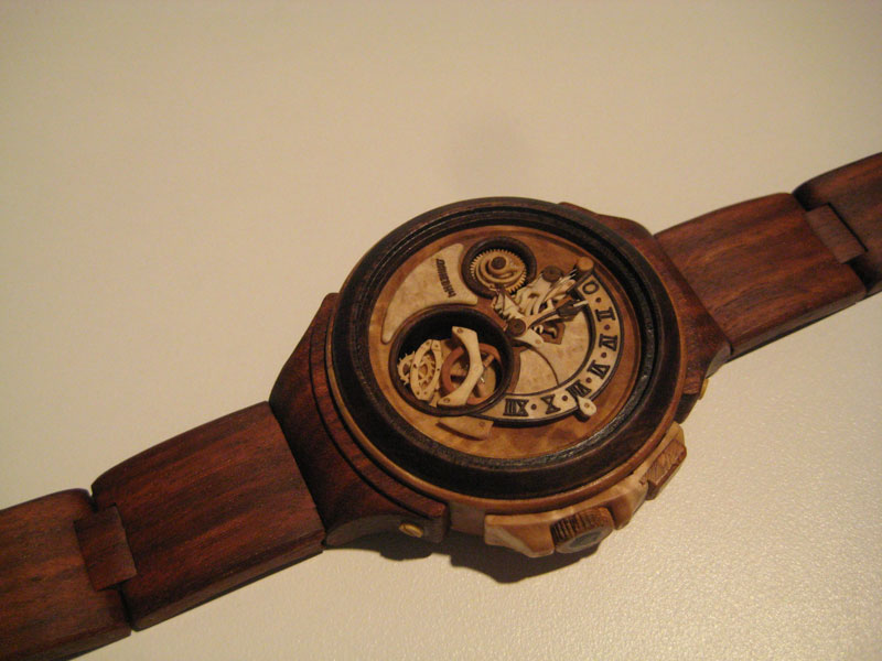 functional watches made out of wood by Valerii Danevych (2)