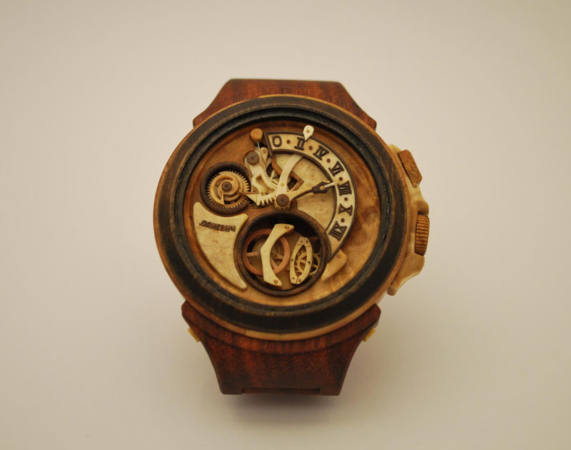functional watches made out of wood by Valerii Danevych (5)