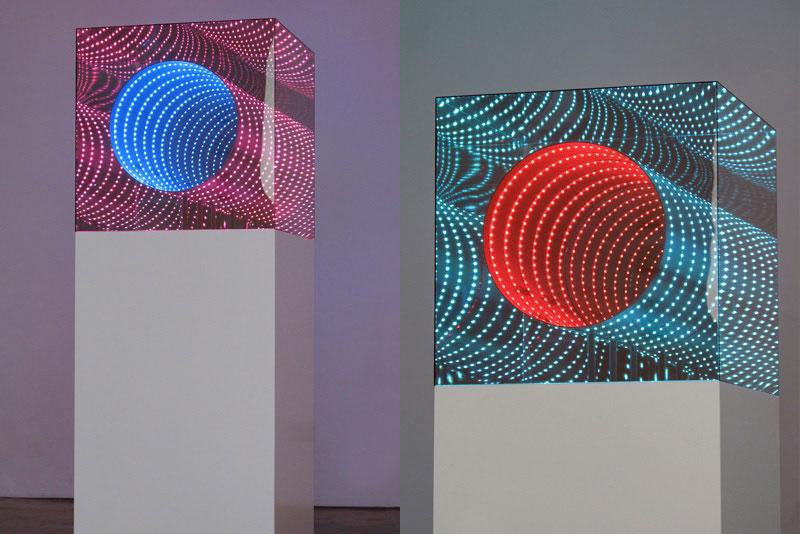 infinite LED artworks plexiglass mirrors hans kotter (5)