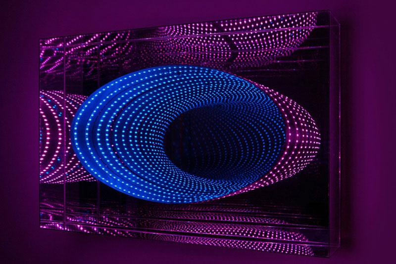 infinite LED artworks plexiglass mirrors hans kotter (8)