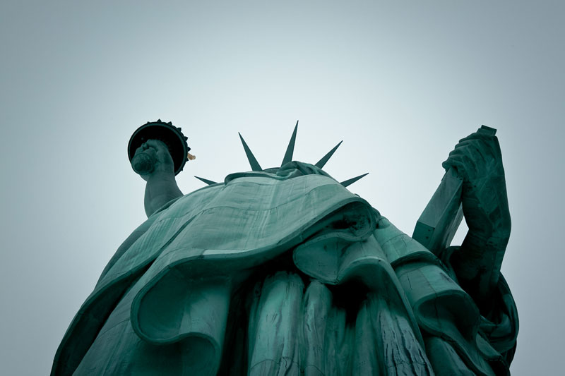 looking up the statue of liberty Picture of the Day: Looking Up To Liberty