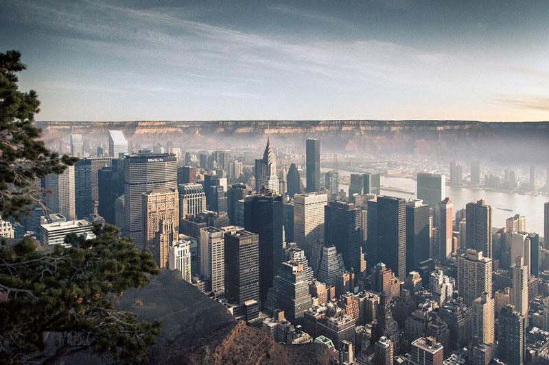 Imagining Manhattan Inside the Grand Canyon