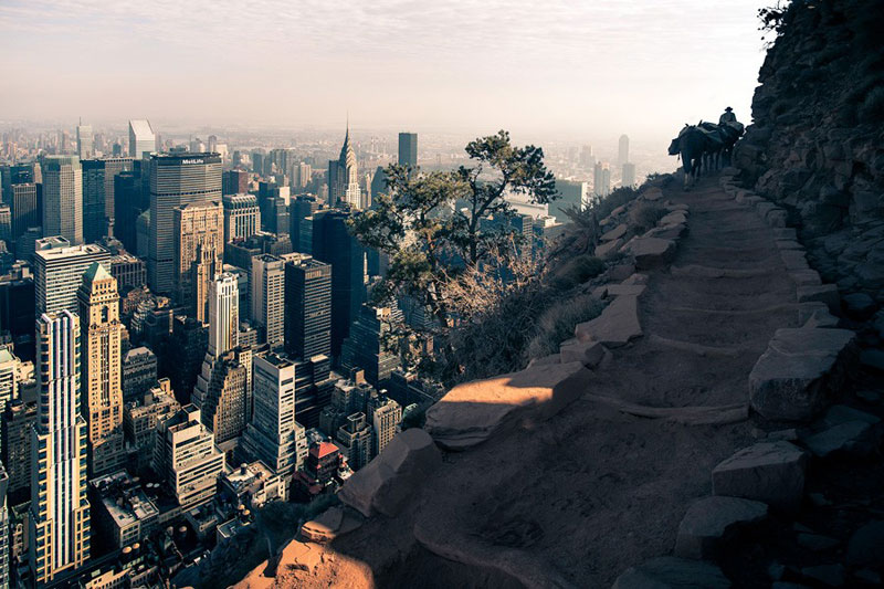 manhattan new york inside the grand canyon by gus petro (4)