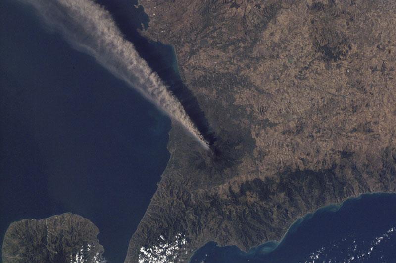 mt etna sicily italy volcano from space aerial nasa