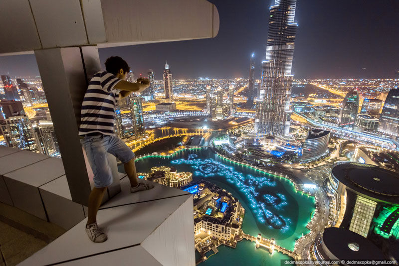 rooftopping dubai urban exploration vadim makhorov 5 The Crazy Duo that Scaled the Worlds 2nd Tallest Building also Took some Amazing Photos