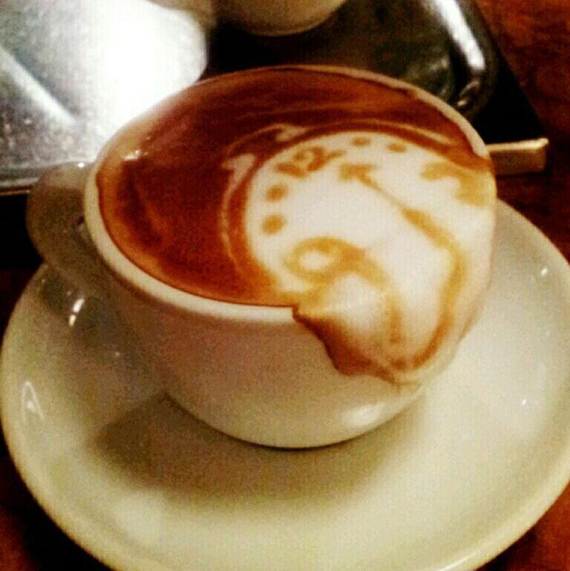 salvador dali latte coffee art Picture of the Day: Salvador Latte
