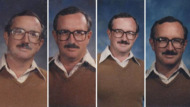 techer wears same yearbook photo outfit for 40 years (3)