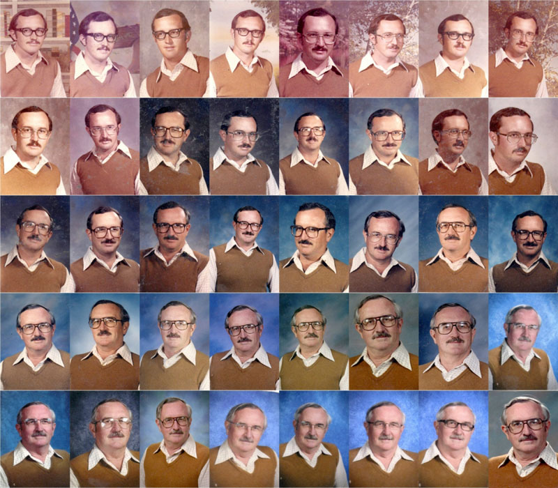 techer wears same yearbook photo outfit for 40 years 5 This Art School in Japan Lets Students Wear Whatever they Want to Graduation