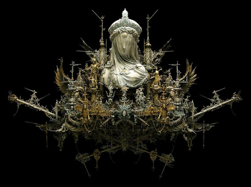 Mind-Blowing Mixed Media Assemblages by Kris Kuksi
