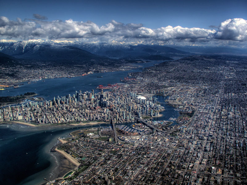 vancouver aerial from above Picture of the Day: Vancouver From Above