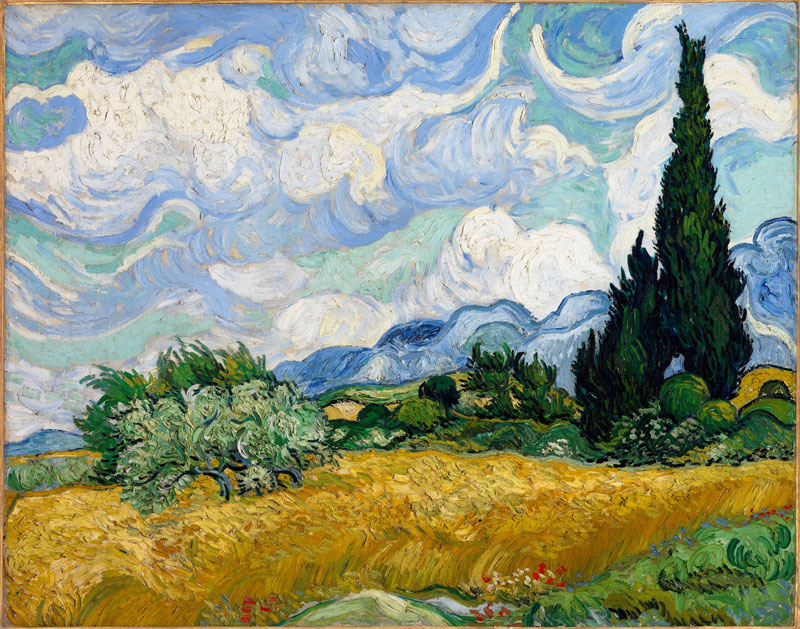 Vincent_van_Gogh-Wheat_Field_with_Cypresses-1889