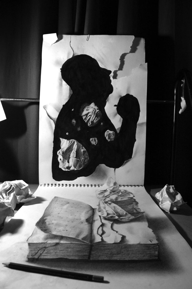 Anamorphic 3D Pencil Drawings by Fredo (1)