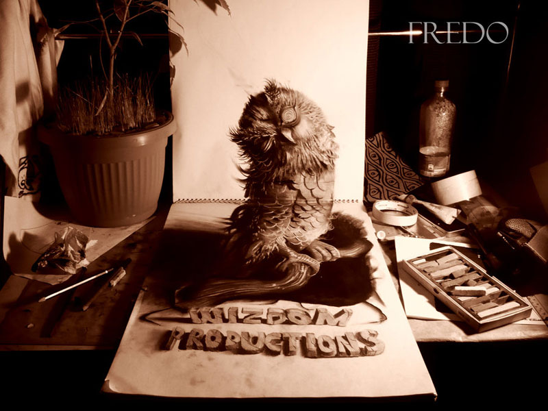 Anamorphic 3D Pencil Drawings by Fredo (6)