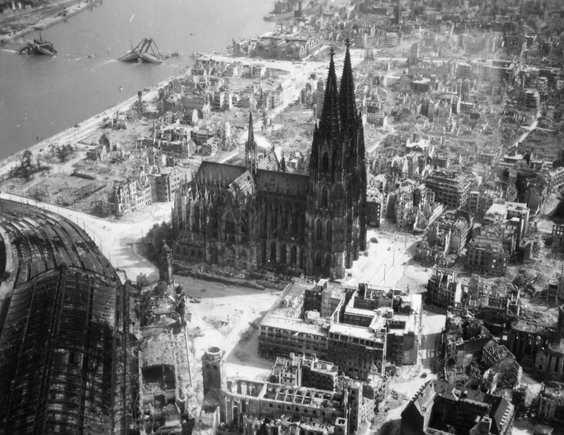 cologne cathedral world war 2 black and white The Top 100 Pictures of the Day for 2013