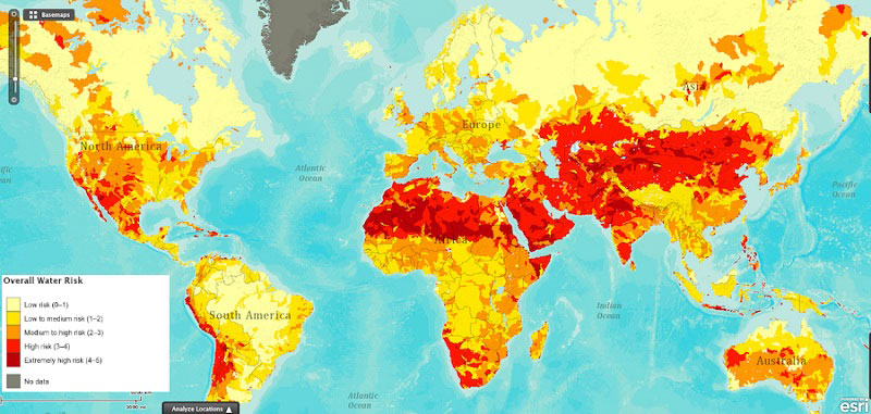 drought risk its not just isolated around the equator 40 Maps That Will Help You Make Sense of the World