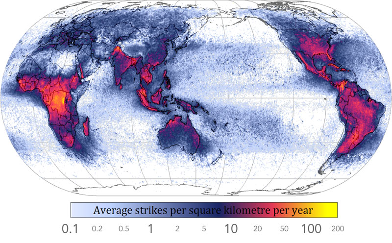frequency of lightning strikes in the world 40 Maps That Will Help You Make Sense of the World
