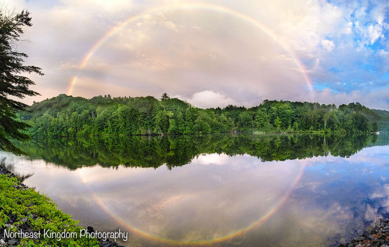 full circle rainbow reflection Picture of the Day: The Full Circle Rainbow