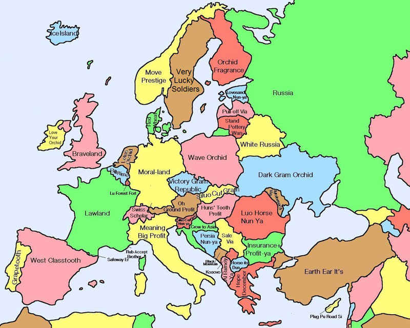 literal map of europe by chinese name 40 Maps That Will Help You Make Sense of the World
