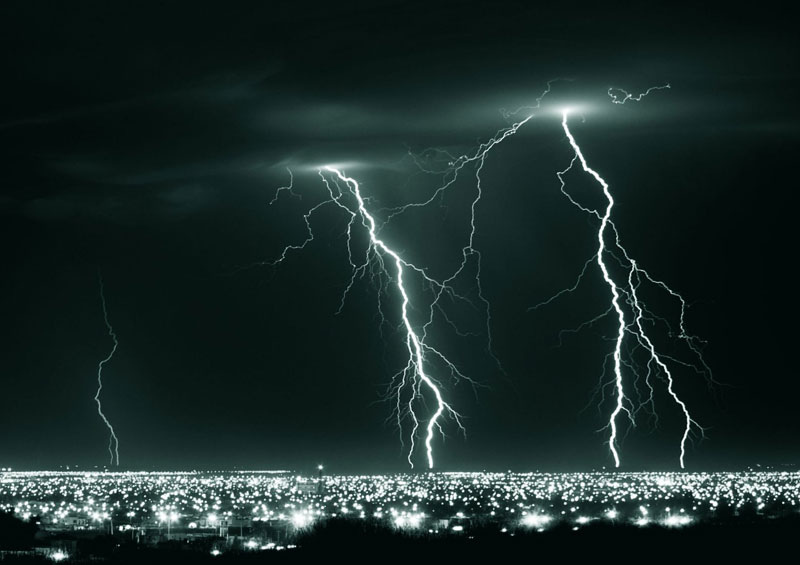 long exposure lightning at night hermosillo mexico Picture of the Day: Lightning Crashes