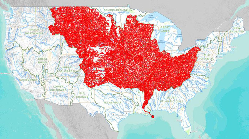 map of rivers that feed into the mississippi river 40 Maps That Will Help You Make Sense of the World