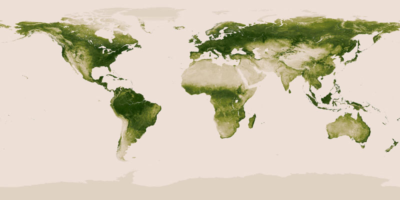 map of vegetation on earth 40 Maps That Will Help You Make Sense of the World