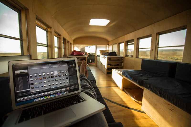 school bus conversion hank 8 A Cabin so Small it Doesnt Even Require a Permit