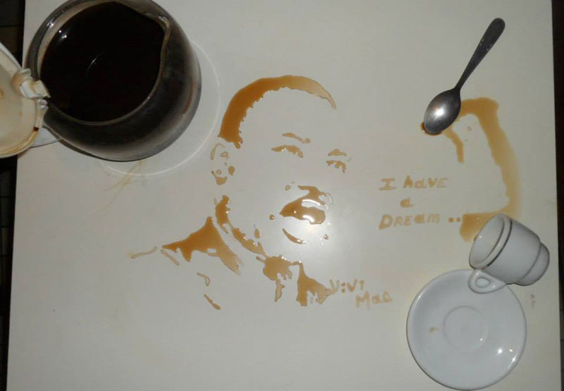 speed painting portraits made from various foods and drinks (1)