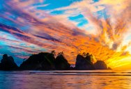 Picture of the Day: Electric Sunset at Shi Shi Beach