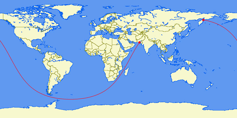 the longest straight line you can sail in the world 40 Maps That Will Help You Make Sense of the World