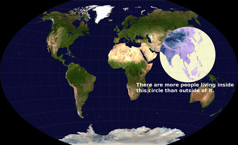 there are more people living inside this circle than outside of it The 55 Most Useful Life Hacks Ever