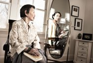 Portraits of People Seeing Their Younger Self in a Mirror