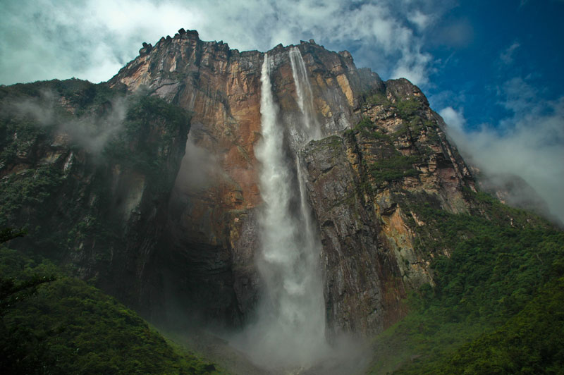 angel falls from below The Top 100 Pictures of the Day for 2013