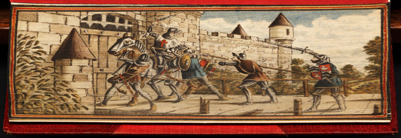 capture of joan of arc fore edge book painting 40 Hidden Artworks Painted on the Edges of Books