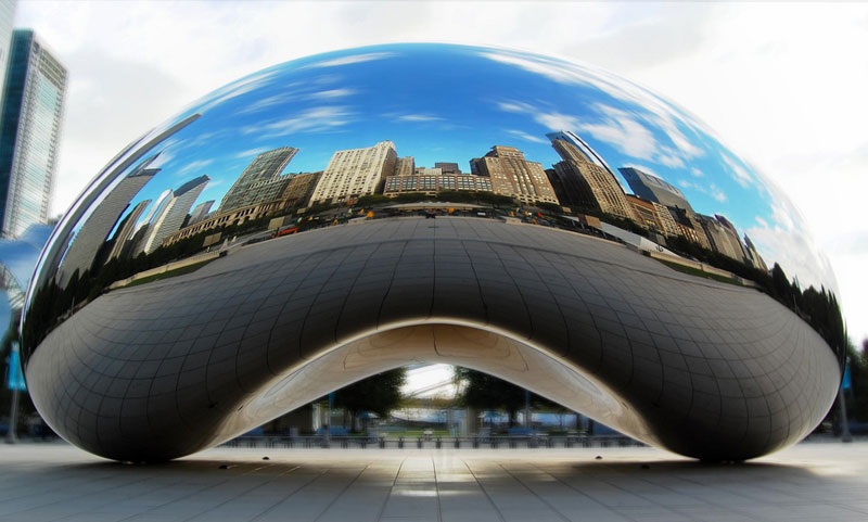 cloud gate anish kapoor chicago bean sculpture (5)