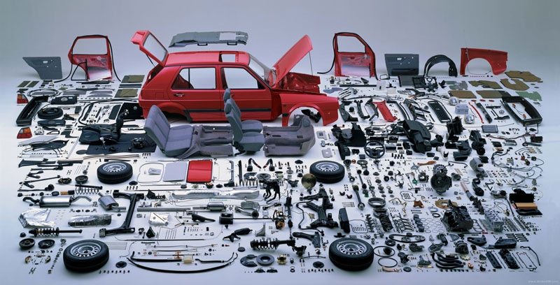 Picture of the Day: Meticulously Dismantled VW Golf
