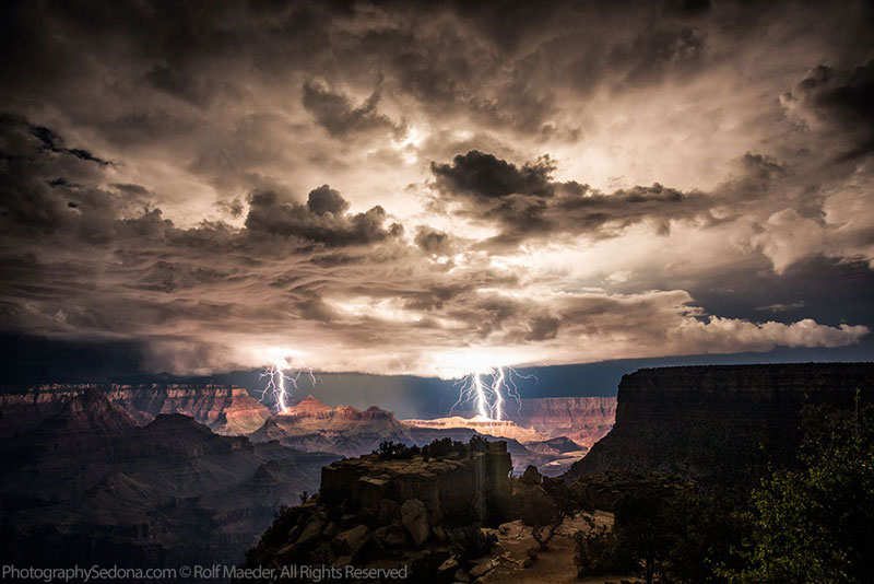 grand canyon lightning storm rolf maeder1 The Top 50 Pictures of the Day for 2014