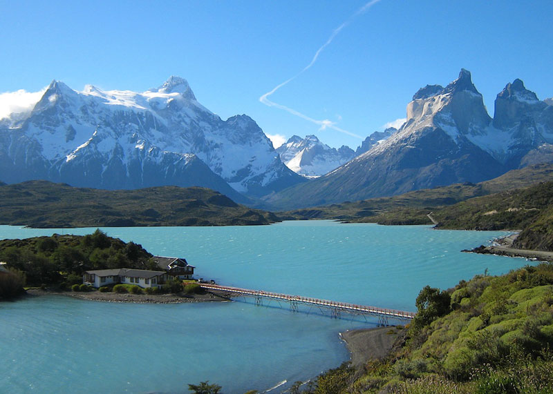 house building on island mountains in background torres del paine national park chile Picture of the Day: A Building with a View