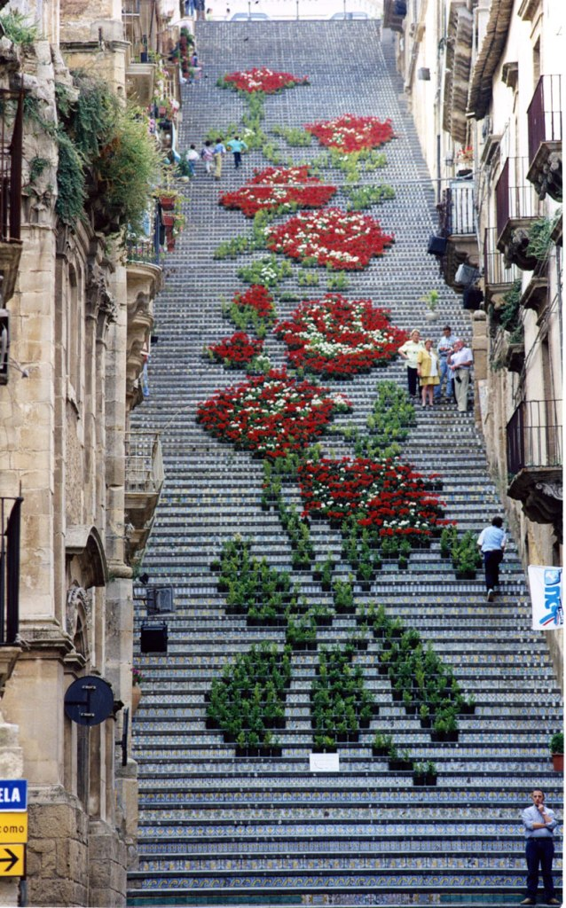 Picture of the Day: Giant Staircase Art Made from Potted Plants