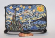 Miniature Clay Artworks on the Outside of Altoids Tins