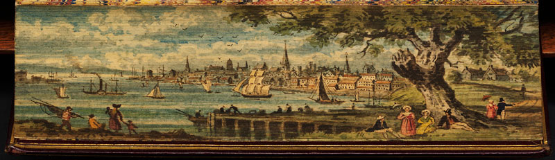 philadelphia fore edge book painting 40 Hidden Artworks Painted on the Edges of Books