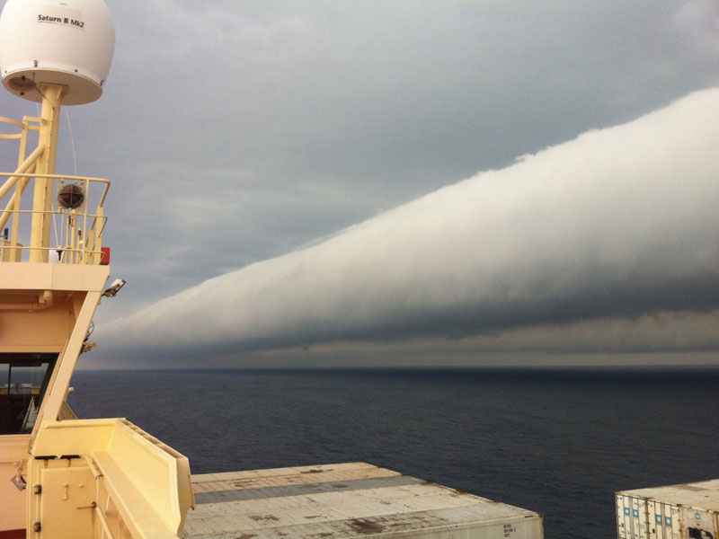roll cloud off coast of brazil Picture of the Day: Open Water Roll Cloud