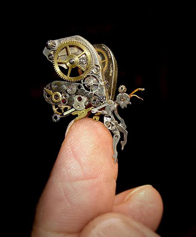 15 Sculptures Made from Old Watch Parts